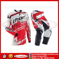 KCM1723 Thor Jersey+pants Fashion Race Motocross Suit Motorcycle Jersey Moto Clothing Set Racing Cross Country Tshirt Pant
