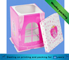 custom design printing clear window paper cardboard cake box with custom logo