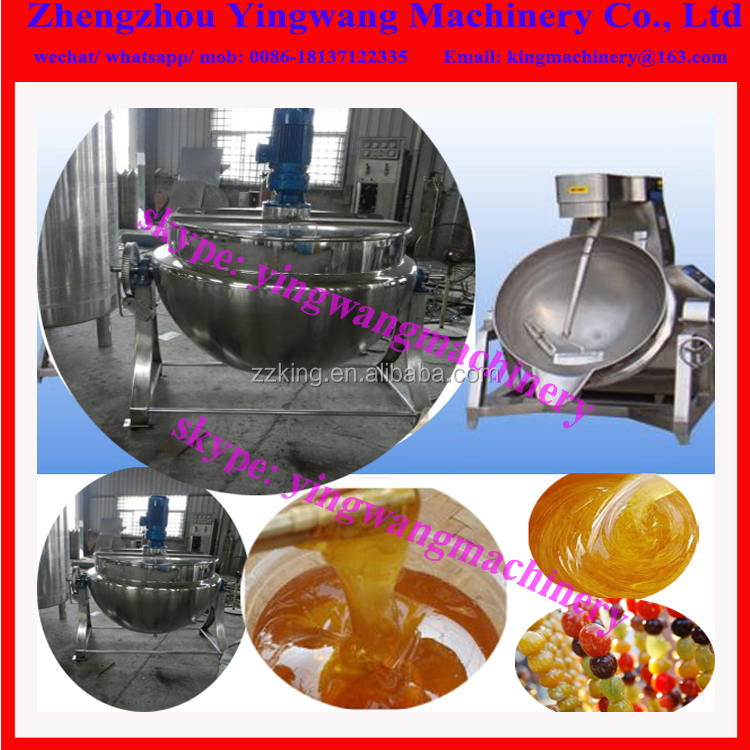 Electric or gas heating industrial cooking pot with mixer