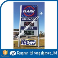 Advertising Outdoor large high standing Monolith Sign pylon