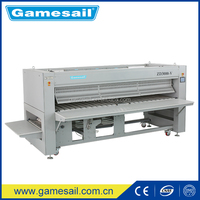 3.0m Three Rollers Hotel Laundry Equipments /Bed Sheet Industrial bedsheet folding machine