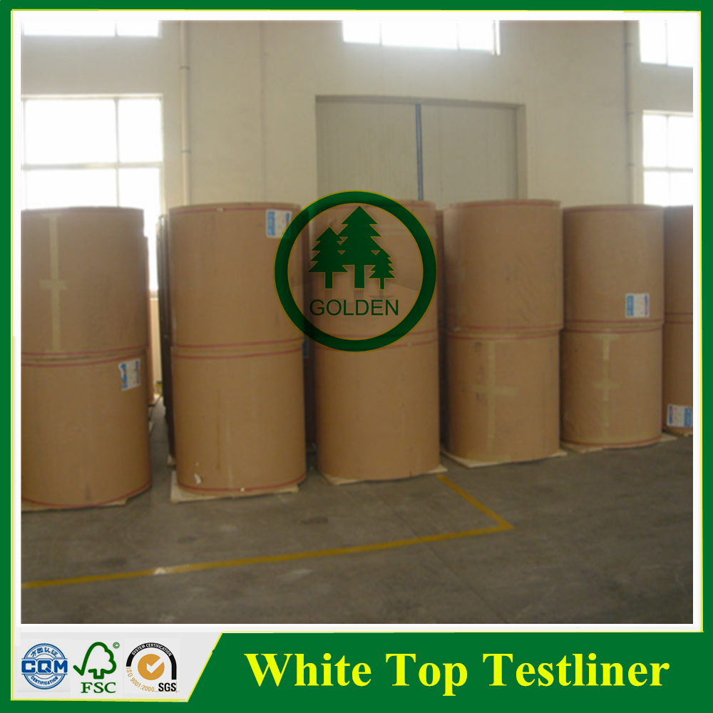 125g 170g 250g White Top kraft liner board / white top testliner paper / packaging paper in sheet