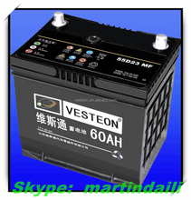 12V50AH MF high capacity car battery Lead-acid batteries/High quality MF car battery