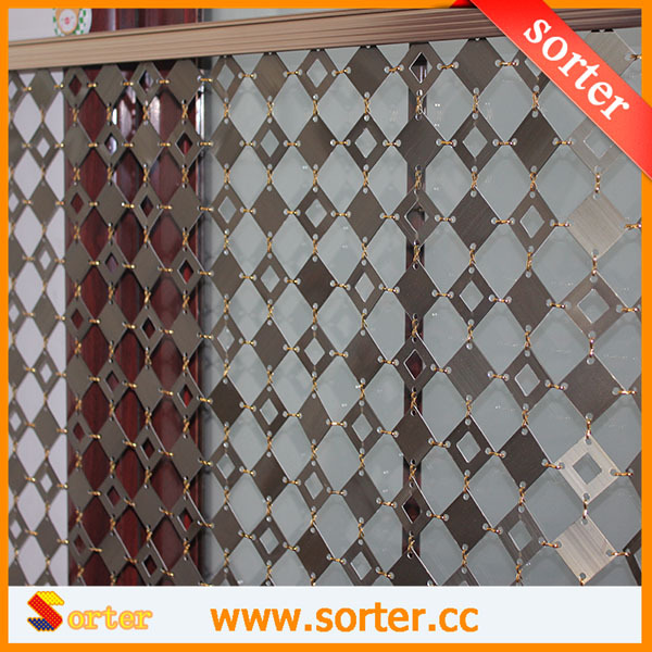New style hanging interior decorative metal architectual mesh curtain wall backdrops