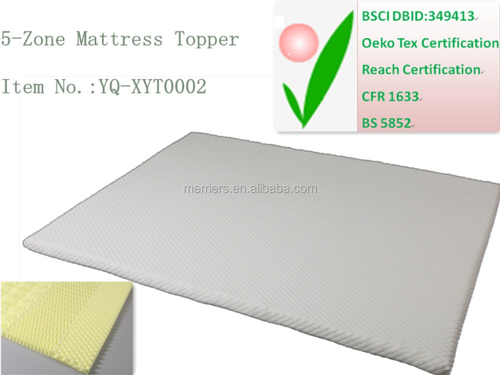 5 Zone Massage Travel Memory Foam Mattress Topper