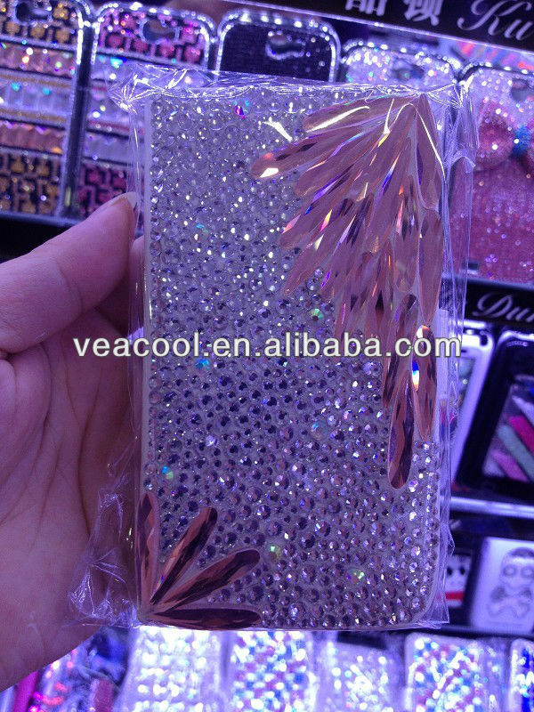 New Handmade Diamond Leather Case Cover For Apple iphone 5 5G 5S