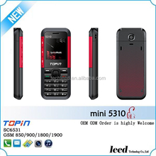 1.44inch dual sim card phone mini 5310 cellular Topin Telefon