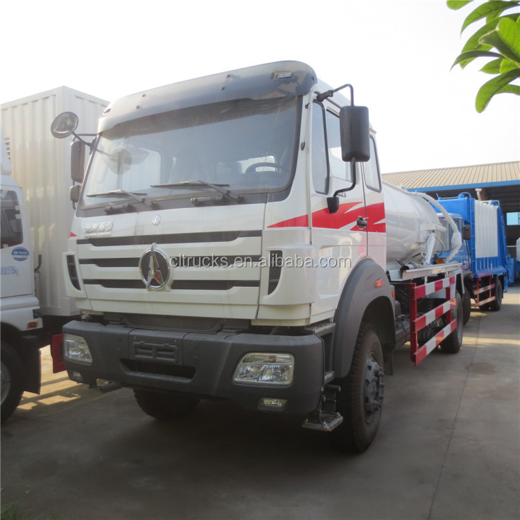 Bottom price beiben chassis 12m3 vacuum drain cleaning truck