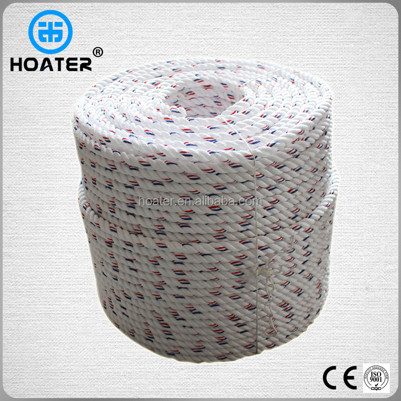 Anti Abrasion Twisted 3 Strand Polyester Rope With Widely Use