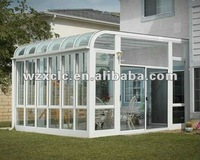 stylish outdoor glass room