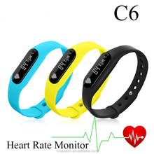Cheap price bluetooth bracelet / C6 smart watch heart rate monitor / fitness band