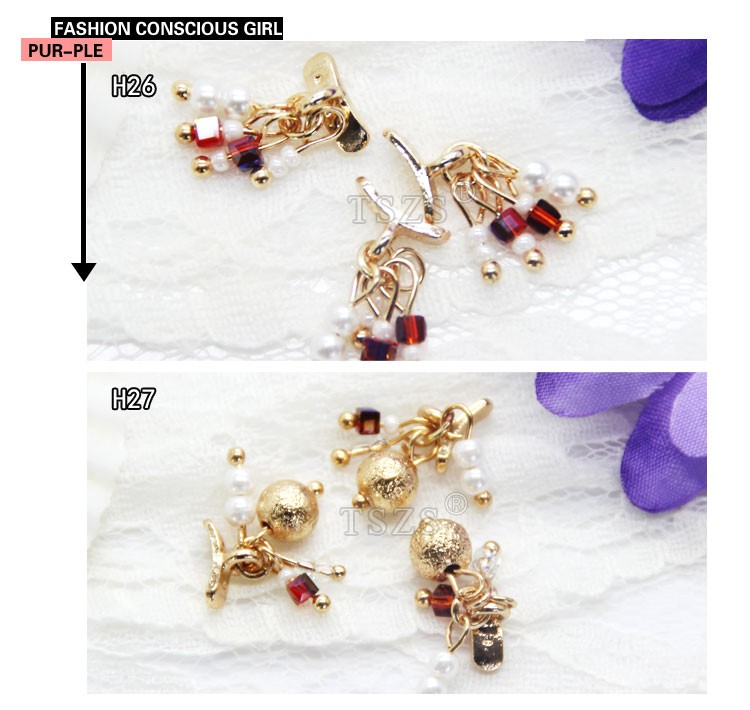 Queen Alloy Gold Flower 3d Nail Art Pendant Carve Rhinestones DIY Decorations