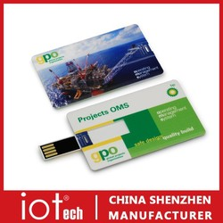Promotional Gift Bulk Customized Credit Card 250GB USB Flash Drive