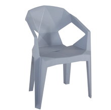 New Style Modern Design Patio Garden Chairs PP Plastic Dining Room Chair With Arm
