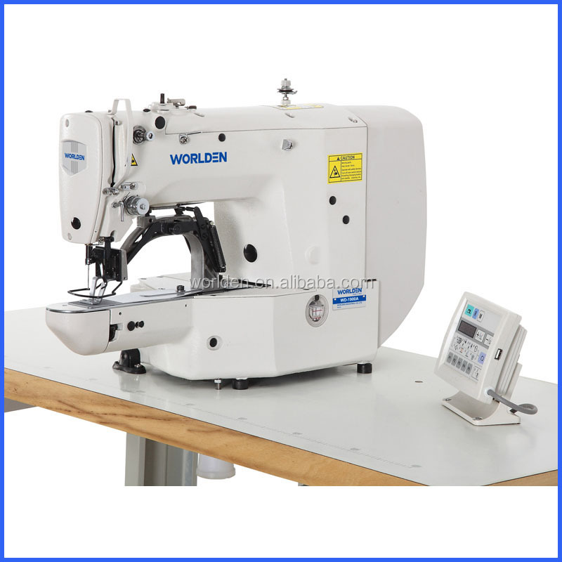 1900A High Speed Direct Drive Bar Tacking Juk Button Sewing Machine Industrial Used Button Hole Sewing Machine