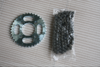 Durable lower price Motorcycle spare parts of chain and sprocket set