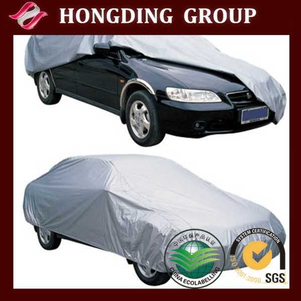 190t taffeta fabric car cover silver coated WR WP UV resistant fabric