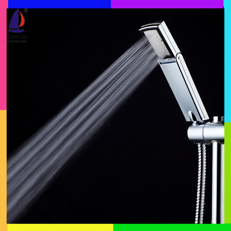 QianYao C-1B ABS Unique Adjustable High Pressure Shower Head