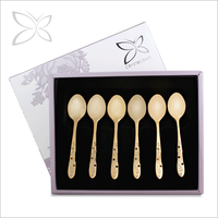 Deluxe Unique Gold Plated Metal Spoon And Fork Wedding Gift