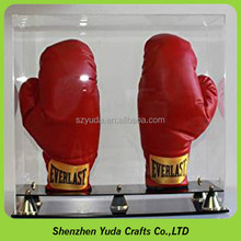 newest acrylic lucite boxing glove display case custom sports display box