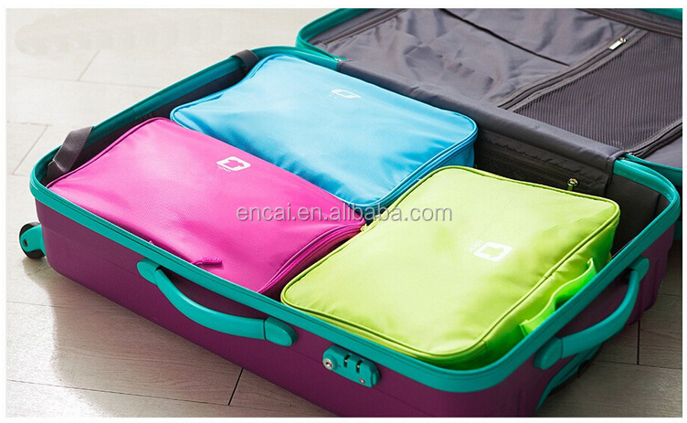 Encai New Arrival Waterproof Travel Clothing Storage Bag With Compartments