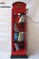 book case for cell phone, Narrow Book case with 4 Shelves