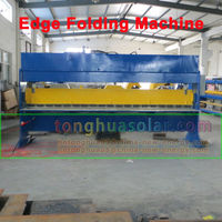 hydraulic edge folding machine for non-welding type solar water heater inner tank