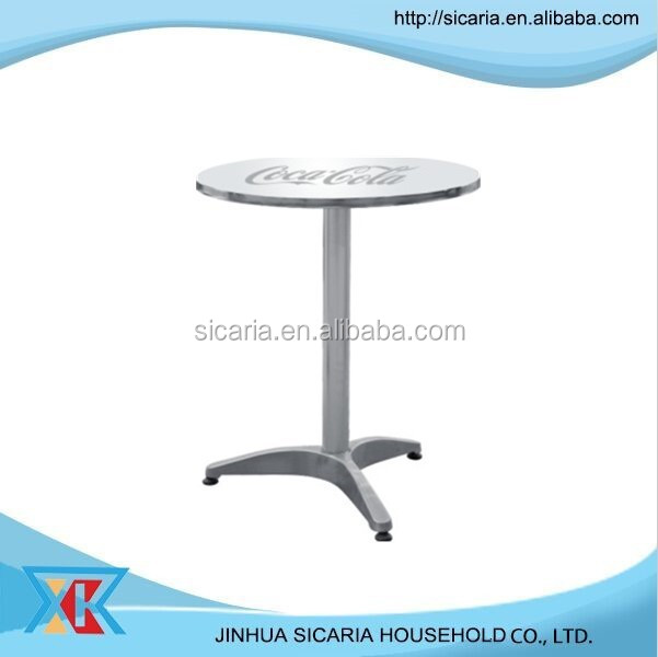 round bistro/cafe aluminium table with logo