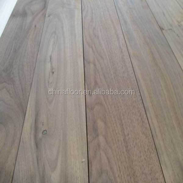 AB grade raw unfinished T&G joint American Black Walnut solid wood flooring