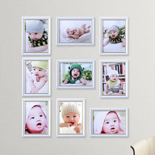 Baby picture photo frame set 9 pcs wall wooden multi photo frame