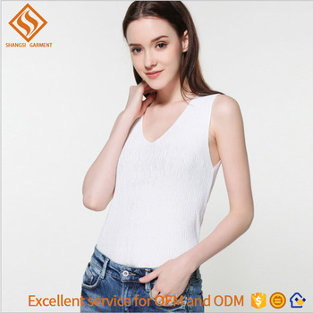 2017 Summer girls vest , girls plain sleeveless knit pullover sweater vest