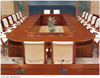 Modern Rosewood Veneer office boardroom Conference meeting room Table with Chairs (FOH-H8013)
