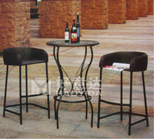 Cheap wicker rattan bar stool bistro rest area