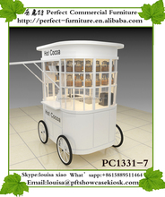 Hand trolley wood bar ice cream cart cooking burritos car Bicycle kiosks Mobile food Burger franchise for sale