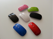 Ultra Thin USB Optical 2.4G Wireless Mouse Receiver Super Slim Mouse For Computer PC Laptop Desktop 5 Candy color