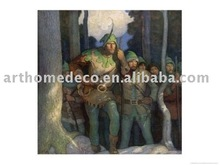 (newell-convers-wyeth-robin-and-his-merry-men-emerge-cautiously-from-the-forest) canvas on aluminumpear-d