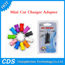 2015 Wholesale Single Car charger Adapter Cigarette Lighter Suitable For iphone 5S Samsung S5 and For iOS with 11 Color