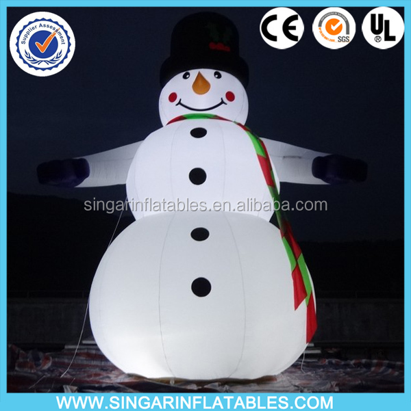 Led inflatable snowman cartoon,inflatable christmas cartoon decoration