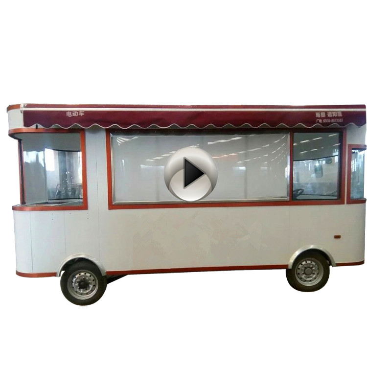 Stainless steel electric fast food bus cart for biscuit