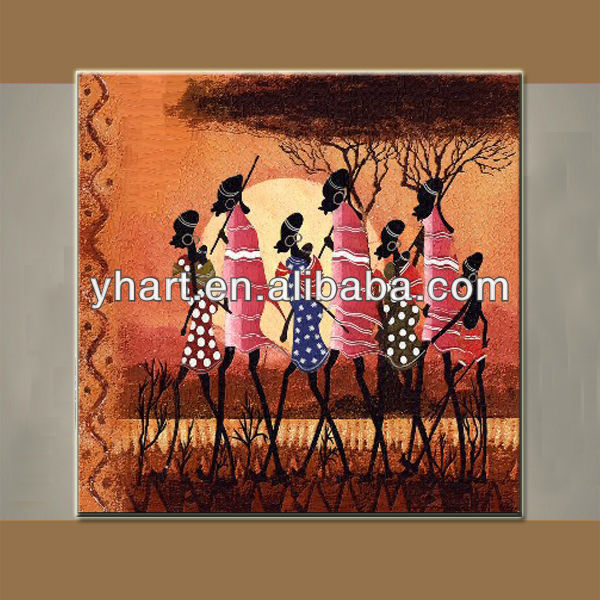 wholesale high quality home decor painting of beautiful African art and craft