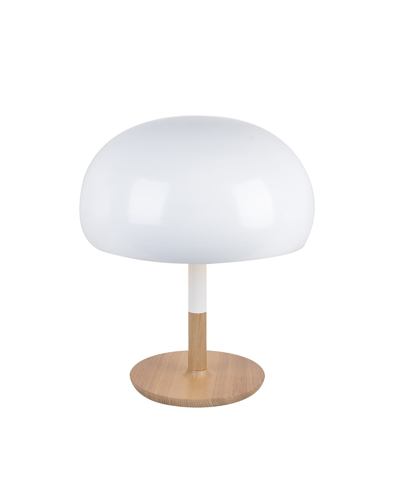 Lovely Modern Style Wooden Table Lamp in Mushroom Shape