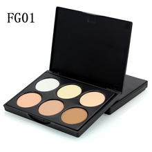 6 Color Shimmer Nature Glow Eyeshadow Palette Portable Makeup Cosmetics Nude Eye Shadow powder Naked Waterproof Makeup Set