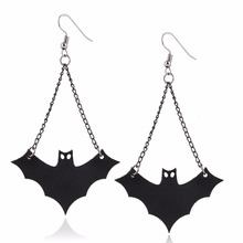 Foreign fashion creative strange bat manufacturers new Halloween Earrings women accessories