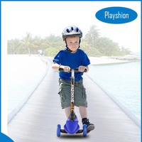 Fast folding deluxe model big PU wheels child kick scooter with CE Approved