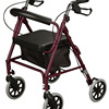 New Burgundy Rollator Rolling Medical Walker