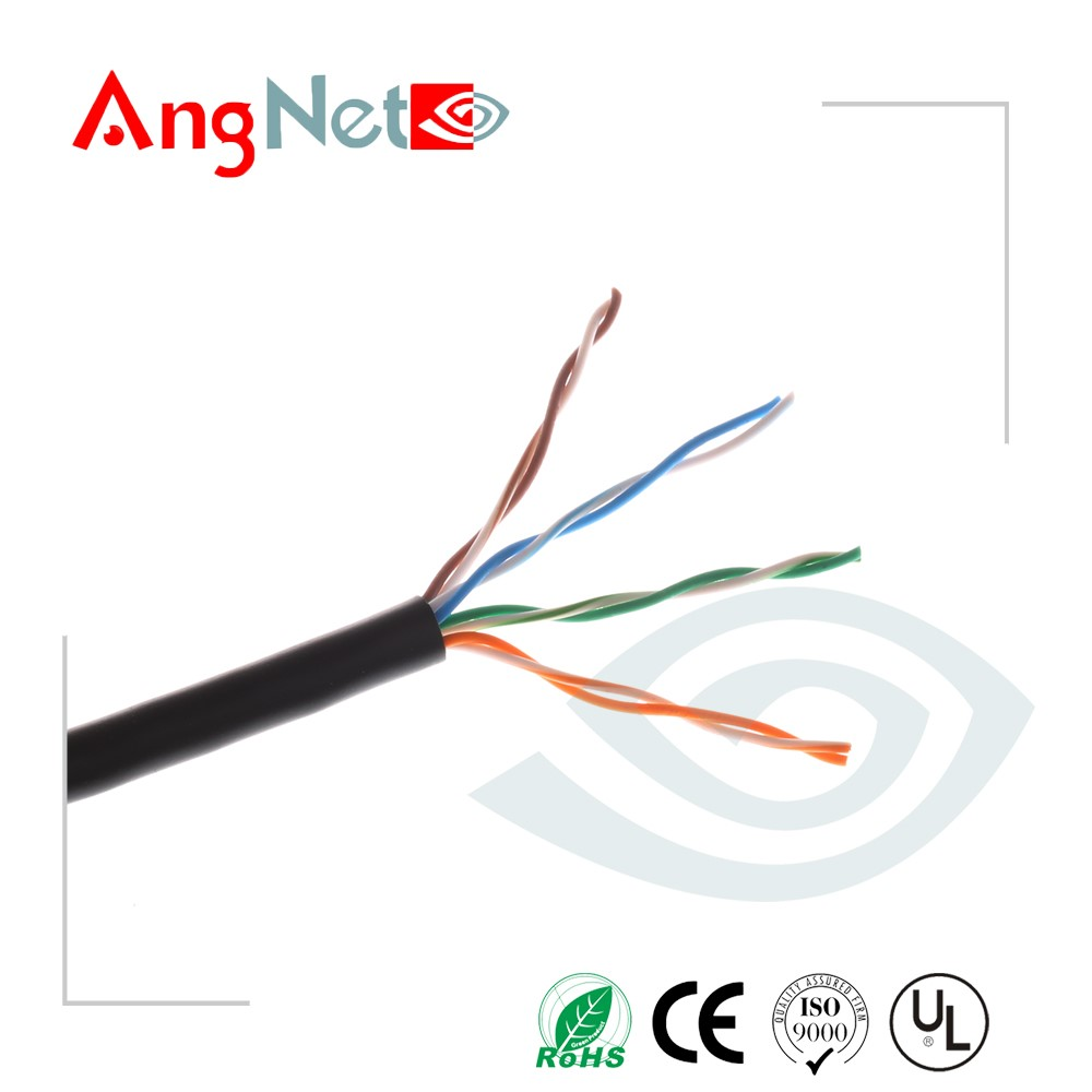 Factory price 350Mhz 24awg rj45 cat5e cable lan cable with power