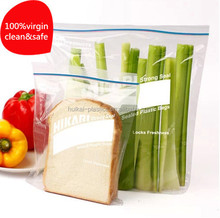 Clear custom LDPE Plastic ziplock Bag for food packing plastic resealable bag