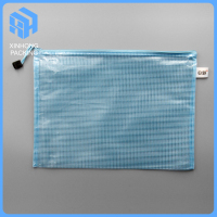 pvc document mesh bags with zipper/pvc document bags/A4 size mesh zipper bags
