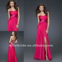 Strapless Sexy High Slit Prom Dress Long for Fashion Lady 2012