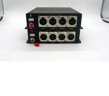 4ch XLR balanced digital broadcast audio fiber to converter over multimode or single mode available for rack-mount